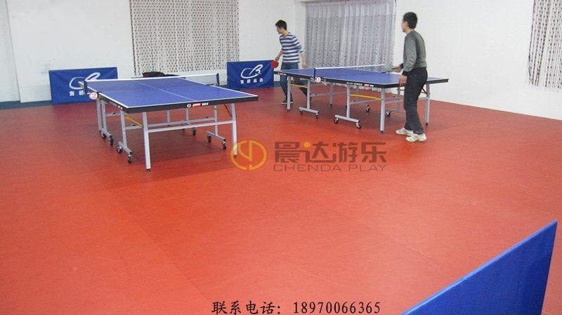 室内乒乓球室PVC运动地板