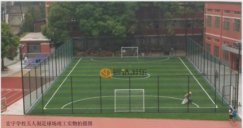 宏宇学校五人制足球场实物图