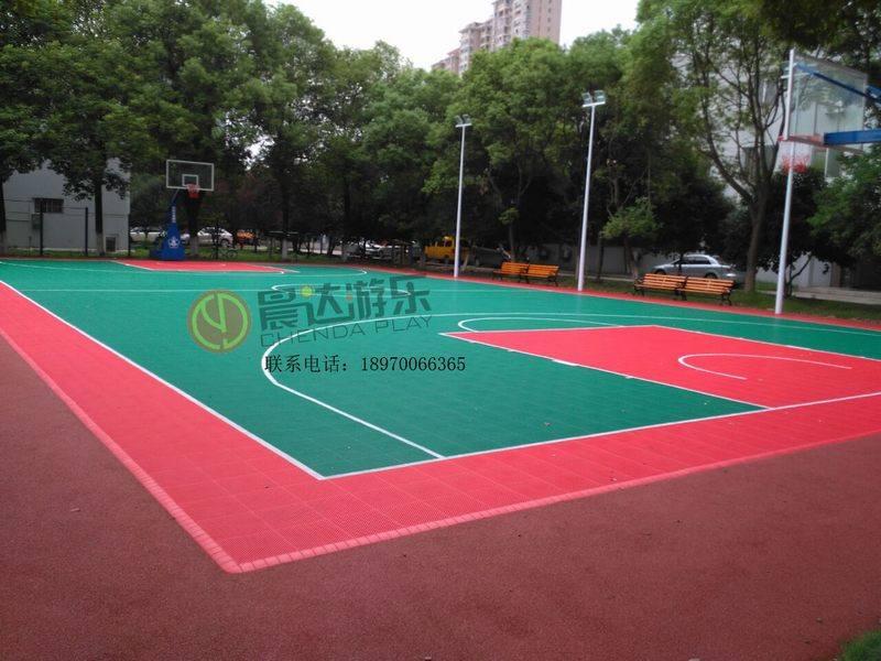 悬浮地板篮球场实物图