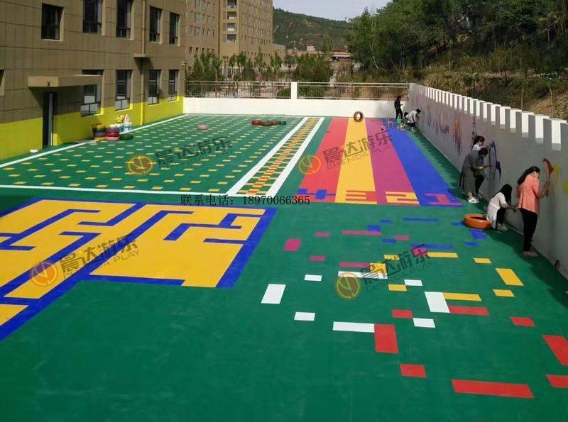 幼儿园悬浮地板1