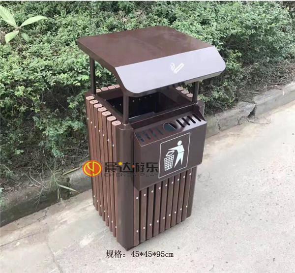 户外塑木垃圾桶037